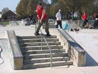 BS Boardslide at King's Park in Bos Vegas