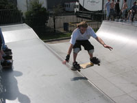 Long haired nose slide in the mini at Blandford