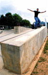 FS Smith down the huge ledge at Abingdon